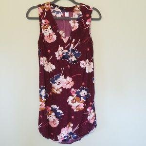 Old Navy floral tank dress